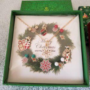 Wreath Bracelet & Earrings Gift Set - NIB